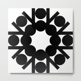 mirror art with shapes Metal Print