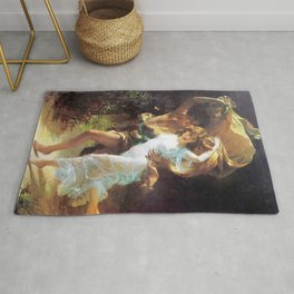 The Storm Painting By Pierre Auguste Cot Rug