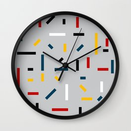 BEFORE MONDRIAN Wall Clock