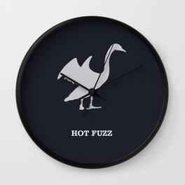 Hot Fuzz Wall Clock