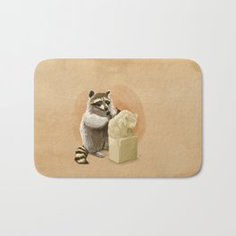 Raccoon in Pursuit of Perfection Bath Mat