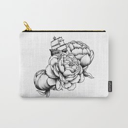 Sailing a Sea of Peonies Carry-All Pouch