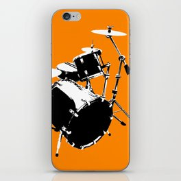 Drumkit Silhouette (frontview) iPhone Skin