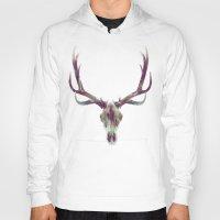 elk Hoodies featuring Elk Skull by Amy Hamilton