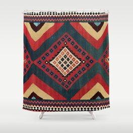 Qashqa'i  Antique Fars Persian Kilim Print Shower Curtain