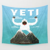 yeti Wall Tapestries featuring Yeti by Artificial primate