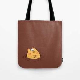 Coffee Tea Onsen Cat Tote Bag