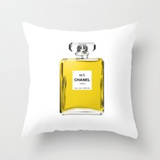 Perfume No 5 Throw Pillow