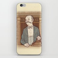 wes anderson iPhone & iPod Skins featuring Monsieur Ivan or Bill Murray on The Grand Budapest Hotel from Wes Anderson by suPmön
