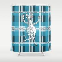 zebra Shower Curtains featuring Zebra  by mailboxdisco