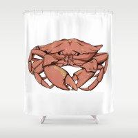 crab Shower Curtains featuring Crab by Nicole Cischke
