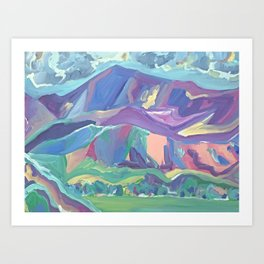 Mt Diablo from Concord Bart Art Print