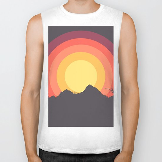 Mountain Sunset Biker Tank