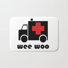 Ambulance Wee Woo Bath Mat