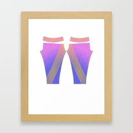 Graphic Leggins Framed Art Print