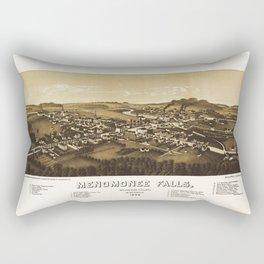 Aerial View of Menomonee Falls, Wisconsin (1886) Rectangular Pillow