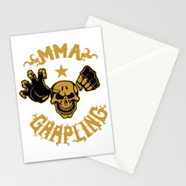 MMA Grapling for people who like   loves mma and martial arts  Stationery Cards