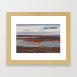 Cutting Through Lake Powell Framed Art Print