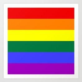 Gay Pride Flag Art Print