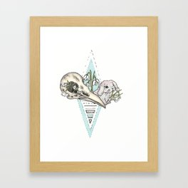 Flowery Animal Skull 05 Framed Art Print