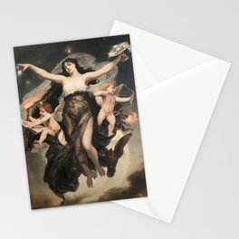 Pedro Americo, The night accompanied by the geniuses of study and love, 1883 Stationery Cards