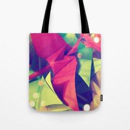 Senbazuru | pink and green Tote Bag