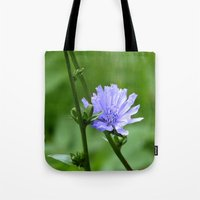 Tote Bags featuring Nature's Garden Purple And Green by minx267