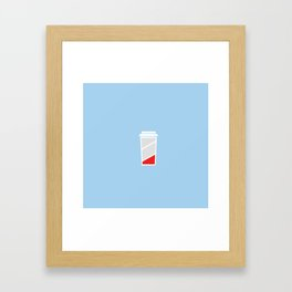 Low Batteries nedd coffee Framed Art Print