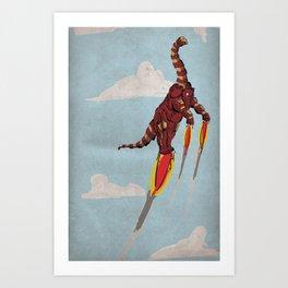 Iron Brontosaurus - Superhero Dinosaurs Series Art Print