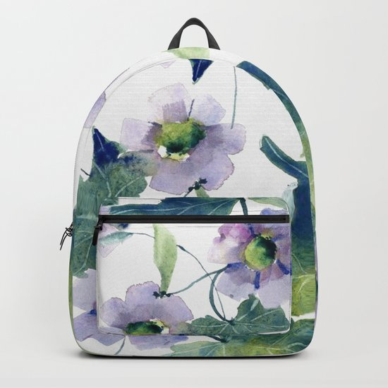 Purple Flowers 2 Backpack