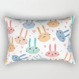Funny Bunnies Rectangular Pillow