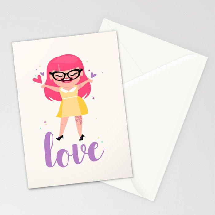 Rockabilly Love Daisy Stationery Cards