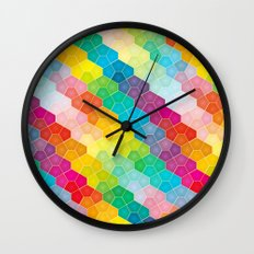 Jewel polygon pattern Wall Clock
