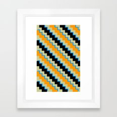 Pixel Orange Framed Art Print
