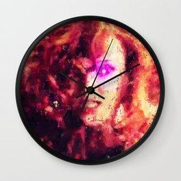 Hair as Red as Fire Wall Clock