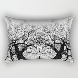 Dark Leaves by Charles Mike Rectangular Pillow
