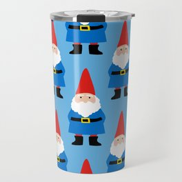 Gnome Repeat in Blue Travel Mug