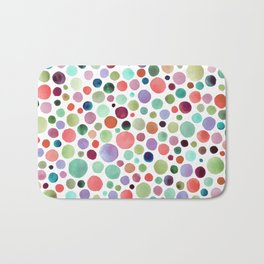 Warm watercolor drops Bath Mat
