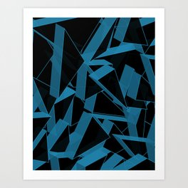 3D Broken Glass III Art Print