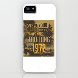 Give your love forever - Benny Hester iPhone Case