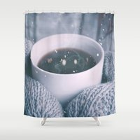 religious Shower Curtains featuring COLD  by UtArt