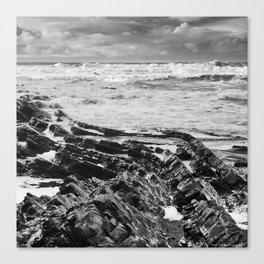 Stormy over Crackington Canvas Print