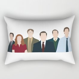 Office characters the tv show  Rectangular Pillow