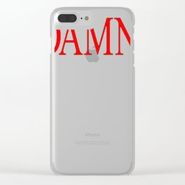 DAMN. - Kendrick Lamar Clear iPhone Case