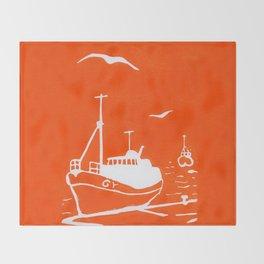 Comrades in Orange Throw Blanket