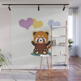 Lovely Red Panda Wall Mural
