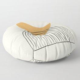 Moon mountain gold - Mid century style Floor Pillow