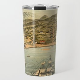 Vintage Pictorial Map of San Francisco (1884)  Travel Mug
