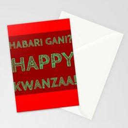 Habari Gani? Happy Kwanzaa! Stationery Cards