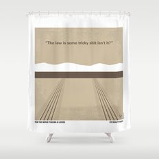 No189 My Thelma and Louise minimal movie poster Shower Curtain